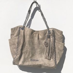 Michael KORS rustic gold Bag purse tote chain